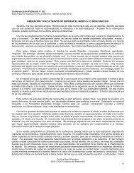 Liberación y paz a través de superar el miedo a ... - Pathwork México