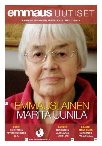 EMMAUSLAINEN MARITA UUNILA - Emmaus Helsinki