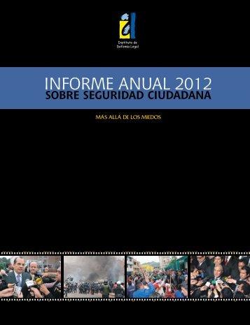 informe anual 2012 sobre seguridad ciudadana