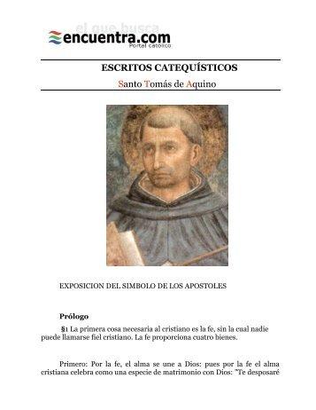 Santo Tomas de Aquino Escritos catequisticos encuentra