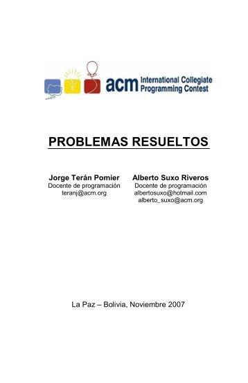 PROBLEMAS RESUELTOS - ICPC Bolivia