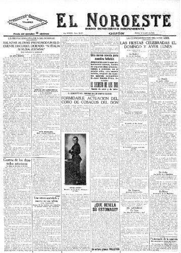 El Noroeste 19340417 - Historia del Ajedrez Asturiano
