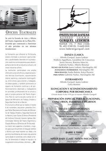 GURQUEL LEDERER OFICIOS TEATRALES - Balletin Dance