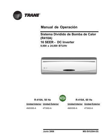 Manual de Operación - Climas Trane