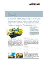 Strassenfertiger AFT 270 E/G