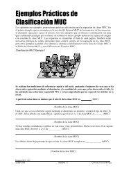 Ejemplos Prácticos de Clasificación MUC - Programa GLOBE ...