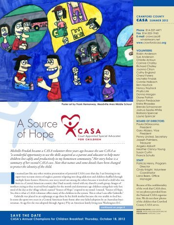 2012 Summer Newslette - CASA