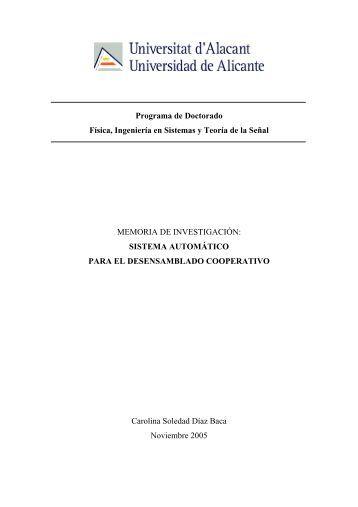 SISTEMA AUTOMÁTICO PA - RUA - Universidad de Alicante