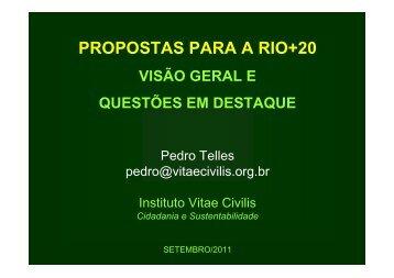 PROPOSTAS PARA A RIO+20 - EIMA 8