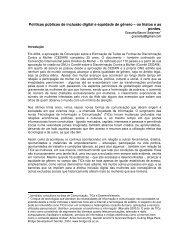 Políticas públicas de inclusão digital e equidade de ... - Fes Género
