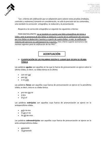 Trabajo de ortografía (1º A y B) a entregar antes del 8 de abril