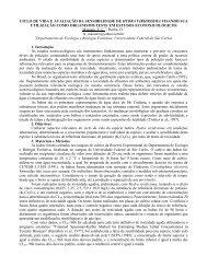 ciclo de vida e avaliação da sensibilidade de hydra viridissima ...