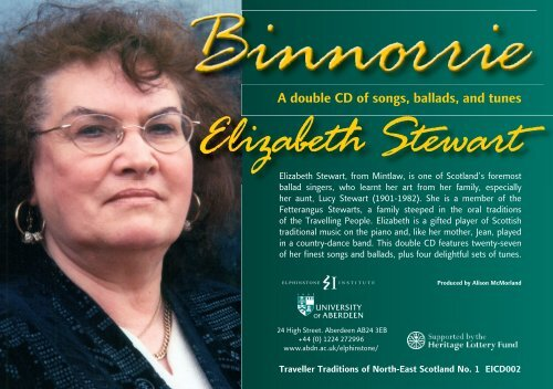 Elizabeth Stewart - University of Aberdeen