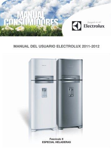 manual consumidor HELADERAS - Electrolux