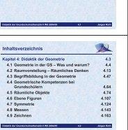 Lehrplan Geometrie 4. Klasse - Didaktik der Mathematik ...