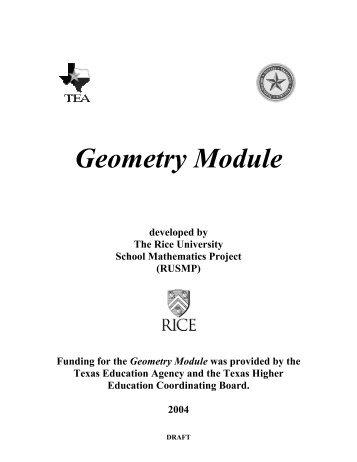 Geometry Module - Department of Mathematics - Rice University