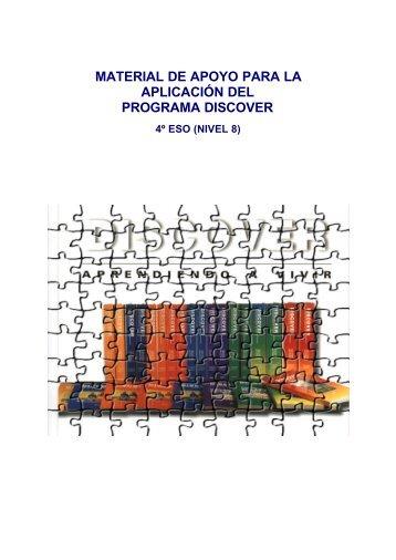 material de apoyo para la aplicación del programa discover