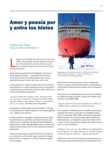 Amor y poesía por y entre los hielos - Centro Naval