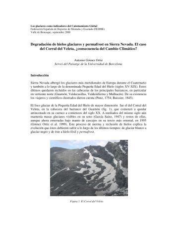 Degradación de hielos glaciares y permafrost en Sierra ... - Fedme