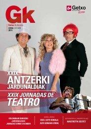 Programación cultural del mes de octubre en Getxo - Kulturklik