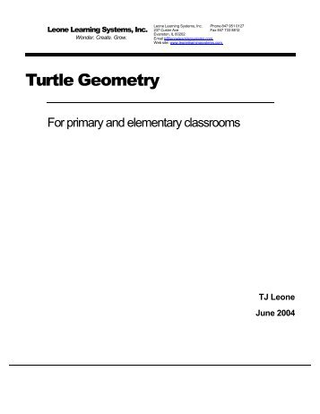 Turtle Geometry For Primary and Elementary Classrooms - tjleone.com
