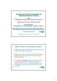 INRA - International Union for the Protection of New Varieties of Plants
