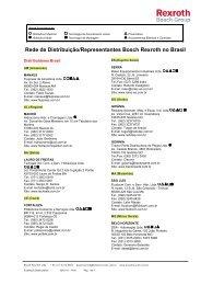 Rede de Distribuição/Representantes Bosch Rexroth no Brasil
