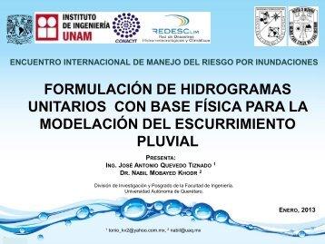 hidrogramasunitarios - Instituto de Ingeniería, UNAM