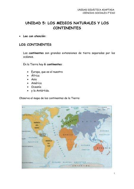 Tema 5 Los Continentes