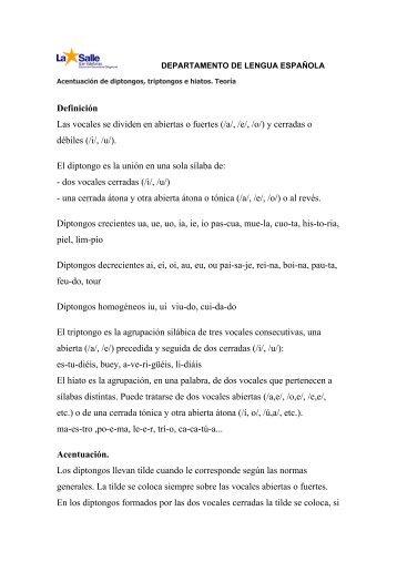 Teoría de acentuación de diptongos, triptongos e hiatos