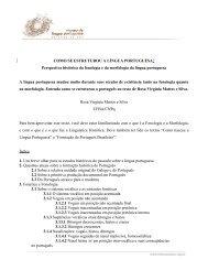A língua portuguesa em perspectiva histórica - Museu da Língua da ...