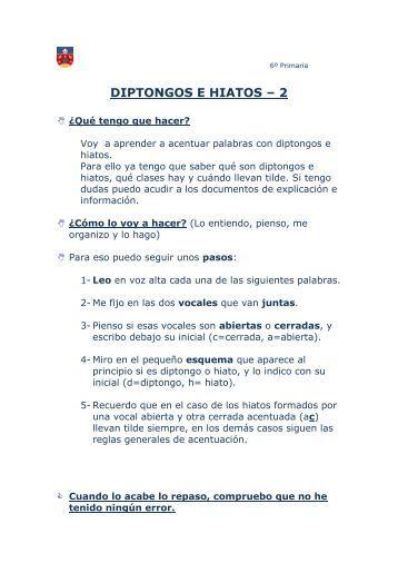 diptongos e hiatos – 2 - Lengua y Literatura del Colegio Aldeafuente
