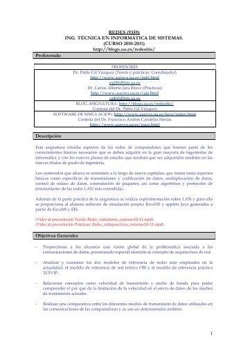 redes (9359) ing. técnica en informática de sistemas - RUA ...