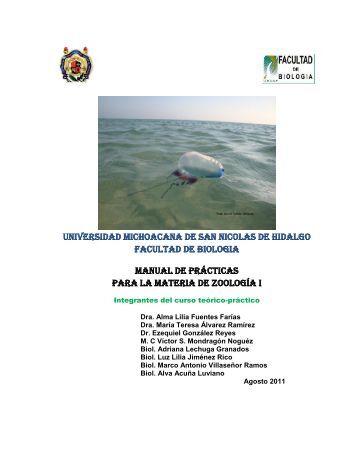 Zoología I - Facultad de Biología - Universidad Michoacana de San ...