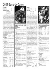 2004 Game-by-Game - CUBuffs.com