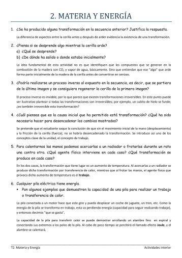 T2_Materia y Energía_Actividades Tema.pdf - Rincon Educativo