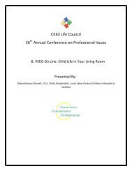 B. VEEG Online: Child Life in Your Living Room - Child Life Council