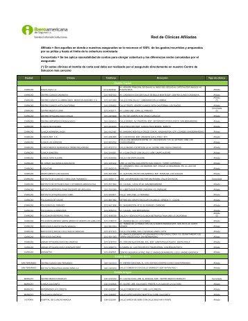 Red de Clínicas Afiliadas - Iberoamericana De Seguros
