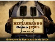 RESTAURANDO Có JESUS Cómo JESUS - senda de restauracion