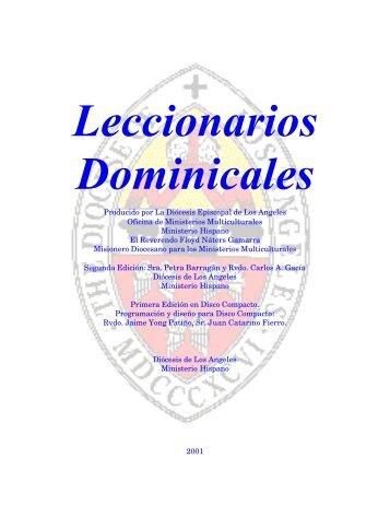 Leccionarios Dominicales - Iglesia Episcopal en Colombia