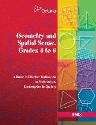 Geometry and Spatial Sense, Grades 4 to 6 - EduGains