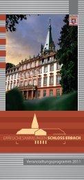 Veranstaltungsprogramm 2011 - Schloß Erbach