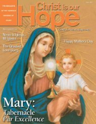 May, 2010, Christ is our Hope - Diocese of Joliet