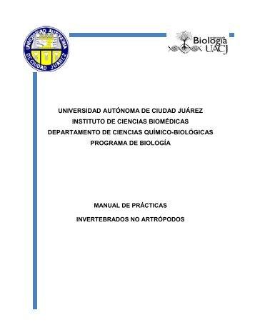 Invertebrados No Artrópodos - Universidad Autónoma de Ciudad ...