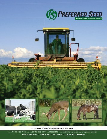 2013-2014 FORAGE REFERENCE MANUAL - Preferred Seed