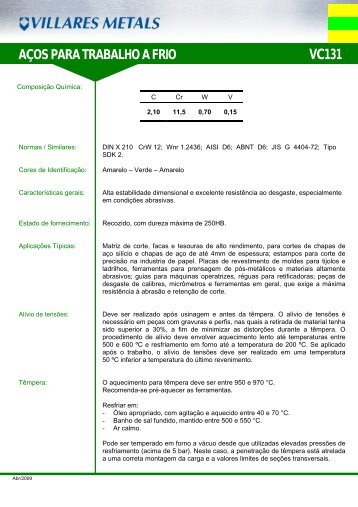 VC131 - Villares Metals