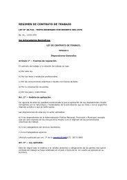 REGIMEN DE CONTRATO DE TRABAJO - Cepal