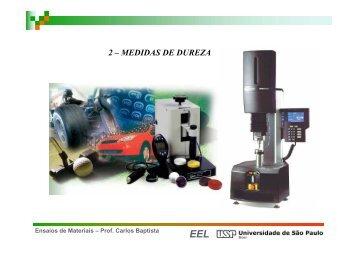2 – MEDIDAS DE DUREZA - Sistemas