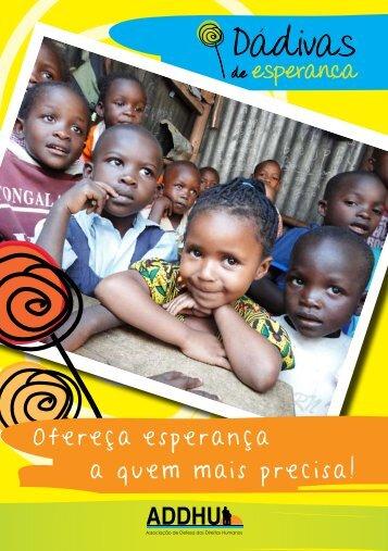 Participe já no programa Dádivas de Esperança Faça aqui o ...