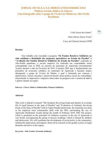 Uma Etnografia sobre o grupo de Viveiro de ... - Jornal do MAUSS